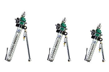 多功能气动锚杆钻机主要有哪些部分组成?